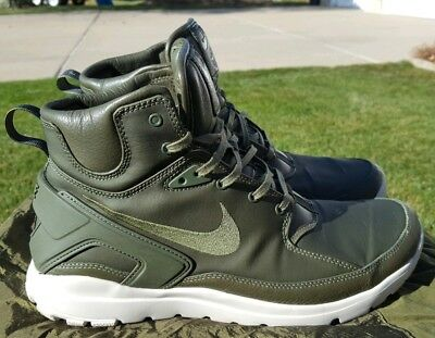 best service 27c08 4a005 Nike Koth Ultra Mid Stone Island Olive Green Mens 10 Great Condition With  Bag