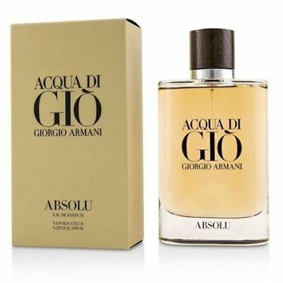 Acqua Di Gio Absolu By Giorgio Armani 4.2 Oz EDP Spray NIB Sealed Cologne Men
