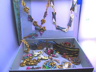 Vintage wholesale lot of Hand Crafted Jewelry lots European Art Nouveau Style #1