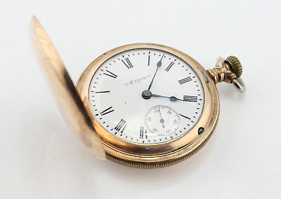 Elgin Pocket Watch Antique Hunting Case Hunter 18S Runs Nice Dial Nr #3474-9