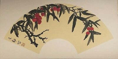 Chinese Painting on Pith/Rice Paper - Rose & Birds/Contemporary