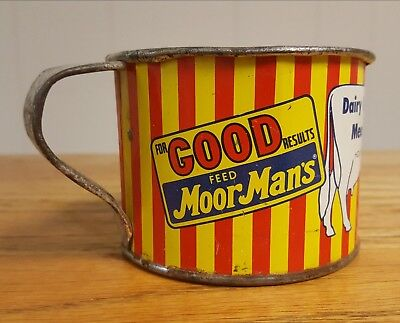 Moormans Feed Measure Cup Moor Man's Mid 1900 Original Cow Mintrate Vintage