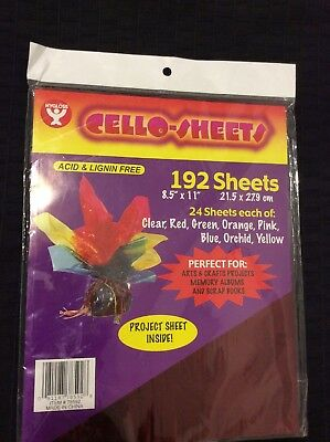 Hygloss: Cello-sheets 192 Sheets In 8 Colors