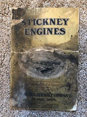 Original Stickney Factory Gas Engine Catalogue Shows 1-1/2 H. P. To 20 H. P. etc