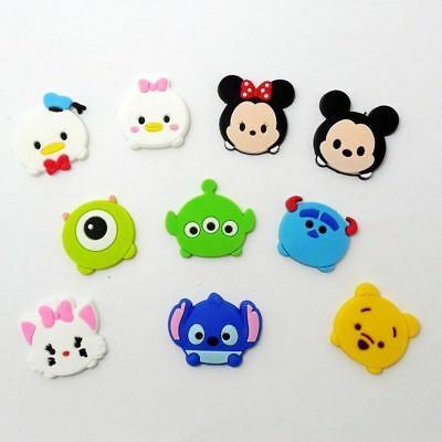 10 Mickey Minnie Mouse Pooh Stitch Tsum jibbitz croc shoe charms cake toppers