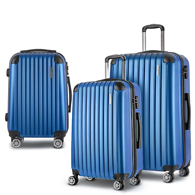 3 Piece Luggage Suitcase Trolley - Blue