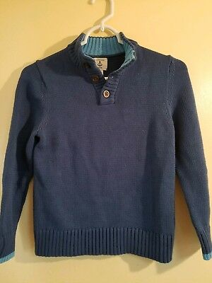 Lands End Sweater Boys Large Size 7 Blue