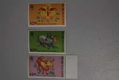 3 x Hong Kong stamps. British Hong Kong stamps, 1996. New. $3.10, $2.50 & $1.30