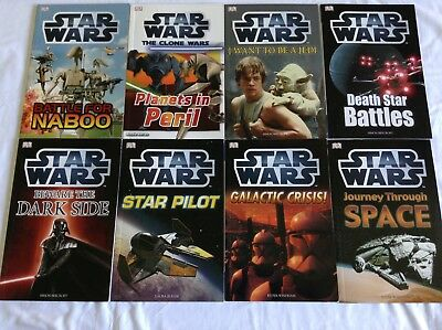 8 STAR WARS BOOKS Bulk Lot!