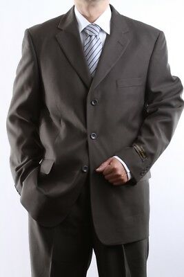 Mens Single Breasted 3 Button Olive Dress Suit Size 40L, Pl-60213-Oli