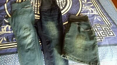 Maternity Jeans x2  And Skirt Size 12