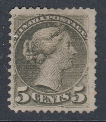 "Canada Scott #38  5 cent slate green ""Small Queen""  F"