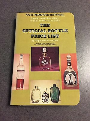 1971 The Official Bottle Price List By Ralph & Terry Kovel Vintage Paperback