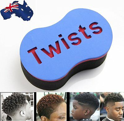 Double Wave Magic Curly Hair Twist Sponge Afro Dreadlock Curl Brush AU HOT