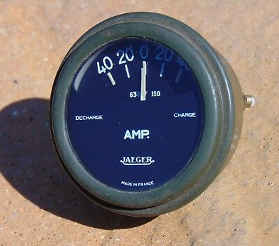 Vintage Jaeger Army Truck Dashboard Amps Gauge Classic France Cold War 63897 ISO
