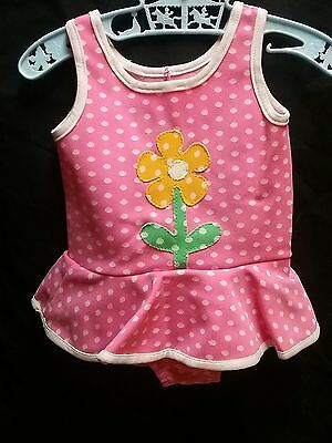 Vintage 1950 60s retro baby girl swimsuit CARTERS polka dot radiant 9 12 18 mo
