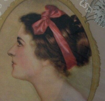 1920-30's LADY FACE Ephemera NOS Print Boudoir Advertising PAPER