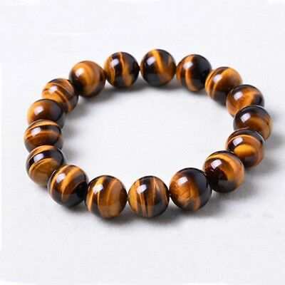 8mm Natural African Roar Natural Tiger's Eye stone Round Beads Bracelet 2019 New
