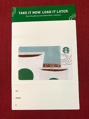New Starbucks 2018 Take It Now Load It Later Gift Card On Backing Sleeve