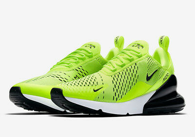 Nike Air Max 270 Volt Size 8-12 Black Dark Grey White Neon Yellow AH8050-701