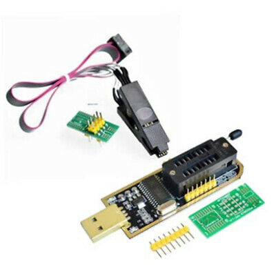 For CH341A EEPROM 25 Flash BIOS USB Programmer+SOIC8 Clip On-Board Replacement