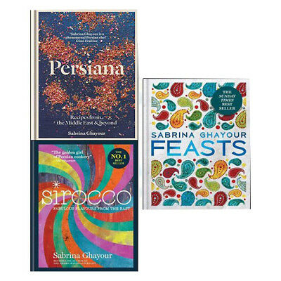 Sabrina Ghayour Collection Persiana,Sirocco,Feasts 3 Books Set Pack NEW