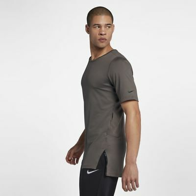 e605d58e Nike Dri-Fit Utility T Shirt Tee Training Top AA1591-202 Ridgerock Brown M
