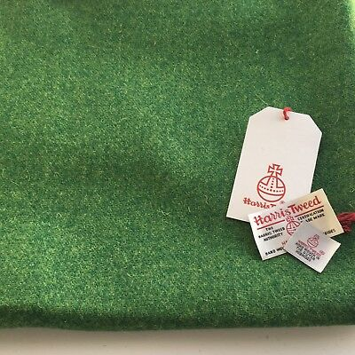 HARRIS TWEED WOOL FABRIC LABELS, Green, 50cm x 30cm with Free Swing Tag label