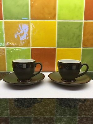 Denby Marrakesh Two Coffee Cups And Saucers good unused condition