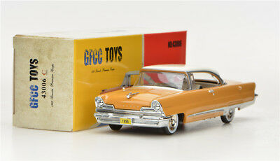 Light Yellow  GFCC TOYS 1:43 1956 Lincoln Poemiere Coupe  Alloy car model