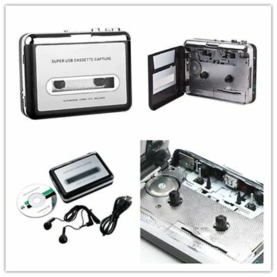 Portable Tape Cassette Convert MP3 Player Converter Audio Capture Music Player O