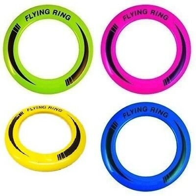 "10"" Neon Flying Ring Disc Frisbee Flyer Adult Kids Family Dog Outdoor Toy 25cm"