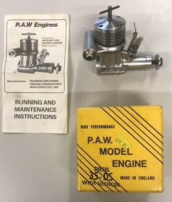 PAW 35-DS Model Diesel Engine With Silencer. New Condition.