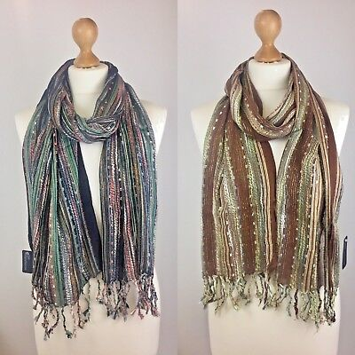 Wholesale Bundle Job Lot of Womens Assorted Lurex Scarves FREE postage £1.20