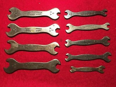Collection of 9 vintage Terry's BA double-ended Spanners