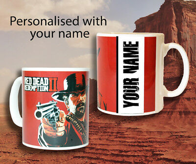 Red Dead Redemption 2 *Personalised* Mug  Gaming Gifts Birthday Christmas X Box