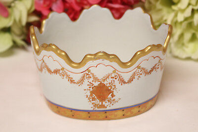Chinese Export Hand Painted Cache Pot, Wine Rinser
