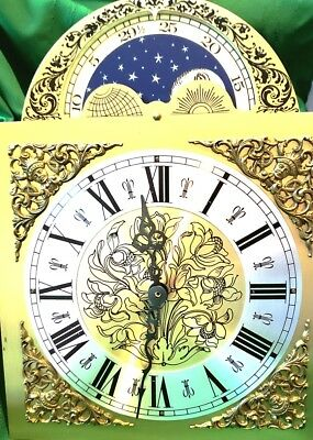 """Vintage Grandfather Clock Movement/Parts """"Romanet FFR Morbier"""" Westminster Chime"""
