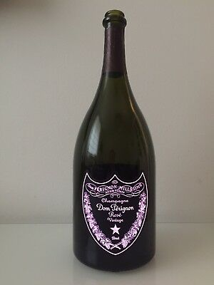 Dom Perignon Rose 1,5l Flasche Luminous, Leuchtend LEER, Deko