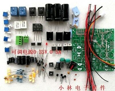 Continuously Adjustable DC-DC Regulated Power Supply Lab DIY Kit 0-35V 0-5A