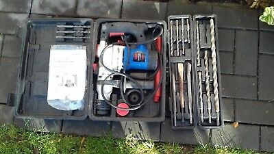 900W Sds+ Rotary Hammer Drill 3 Function 230V With Accessories - Used