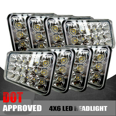 4Pairs LED Headlights Fits Kenworth T400 T600 T800 W900B W900L Classic 120/132 A