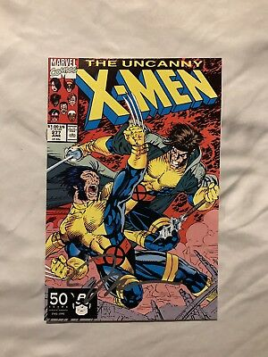 Uncanny X-Men # 277 VF / NM Wolverine vs. Gambit ( SIGNED ) Jim Lee Cover Art
