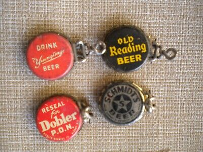 4 Diff. Beer Bottle Cap Resealers Old Reading Schmidts Dobler Albany Yuenglings