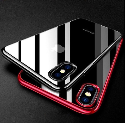 For iPhone XR Shockproof Electroplate Plating TPU Case Cover UK