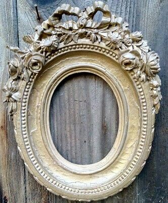 Highly Ornate Oval Picture Frame
