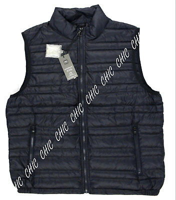 M & S Mens Collection Down & Feather Gilet Tailored Fit Lightweight RRP £45 Navy