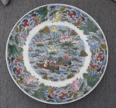 Antique / Vintage Chinese Famille Verte Charger / Plate