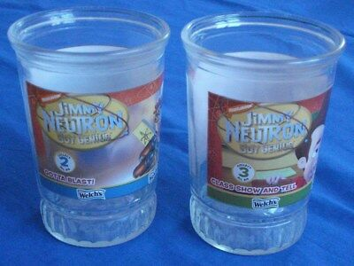 2 Jimmy Neutron Welch's Juice Glasses