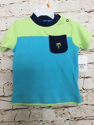 Crown & ivy baby Play Clothes Palm Tree 12 months Boys Knit T-shirt NWT